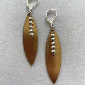 Minimalist Handmade Earrings, NWT